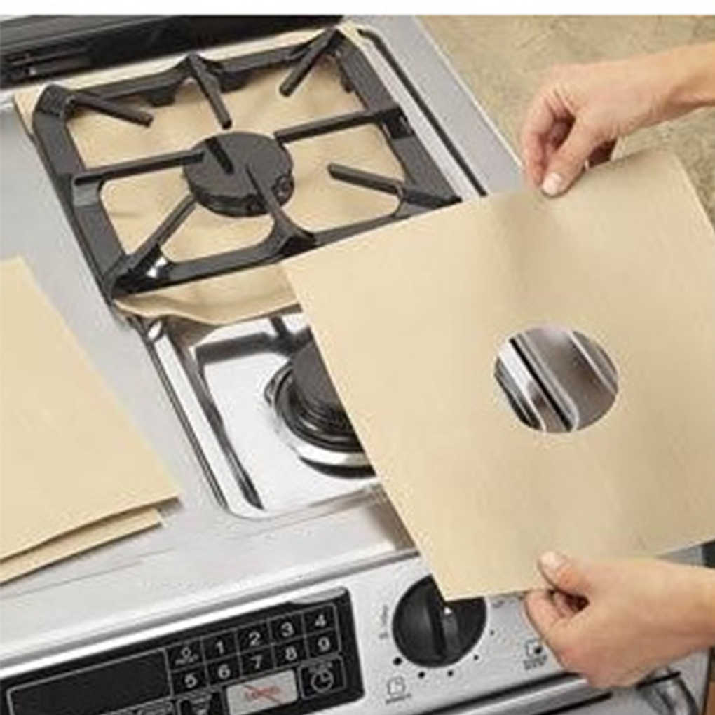 Hot Gas Stove Pads Non-stick Reusable Stovetop Burner Protector Liner Cover for Kitchen