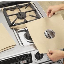Hot Gas Stove Pads Non-stick Reusable Stovetop Burner Protector Liner Cover for Kitchen 8 pcs reusable gas stove burner cover protector liner clean mat pad file injuries protection 2