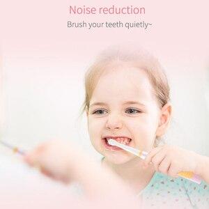 Image 5 - Seago Thương Hiệu Trẻ Em Bàn Chải Đánh Răng Điện USB Sạc Sạc Hẹn Giờ Bàn Chải 3 Chế Độ Âm Bàn Chải Đánh Răng Với 3 Đầu Chăm Sóc Răng Miệng