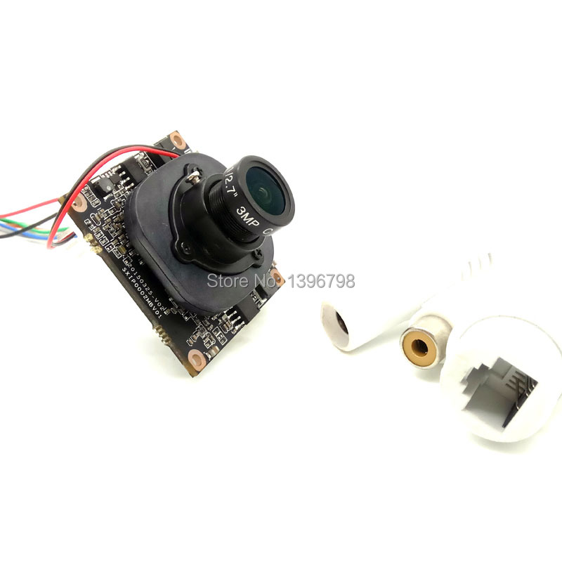 1080P P2P 1 / 2.7 HI3518C + OV2710 IP Camera Module ONVIF 120-degree night vision surveillance cameras 3MP 2.8mm Lens POE Cable