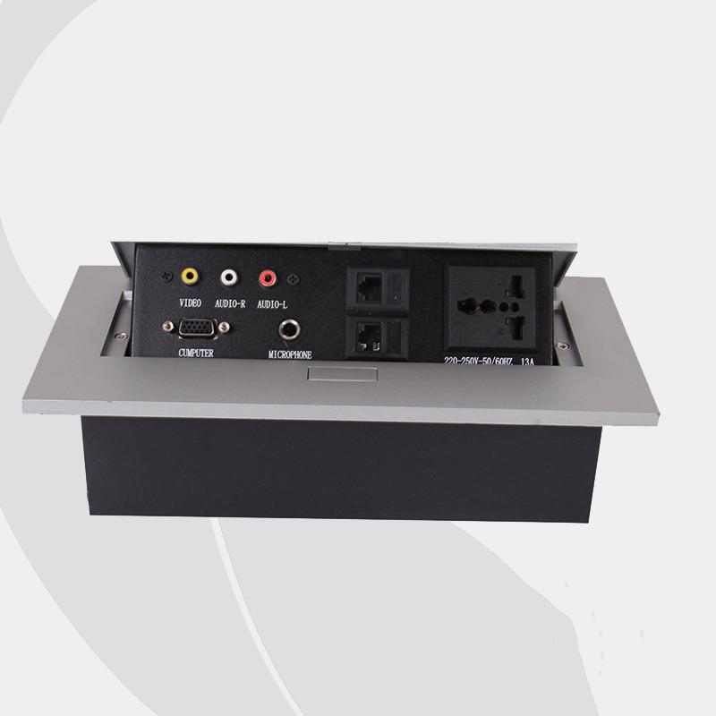 цена на New Design Tabletop Socket ,Conference Table Multimedia Panel 220~250V 50/60Hz (SP-LS602)