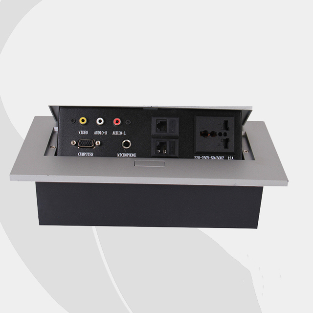 New Design Tabletop Socket Conference Table Multimedia Panel - Multimedia conference table