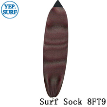 Surf sock Surfing Stretch Terry Sock Cover 8ft9 Red,White with Black color
