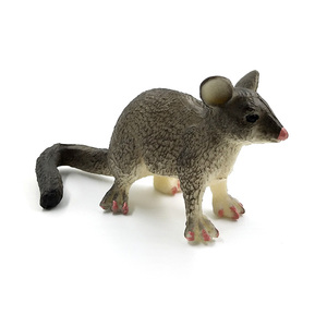 Image 3 - Simulation forest plastic small animal figures model for cute kawaii Cat  Mouse Burmese Opossum Mouse decoration figurines toys