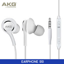 AKG Headphones For Samsung Galaxy S10 Plus S10e Earphones Earbuds Stereo with Volume Control Mic Handsfree In-Ear Wired headsets(China)