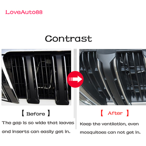 Image 5 - Car Insect Screening Mesh Front Grille Insert Net For Toyota Land Cruiser Prado 150  J150 LC150 FJ150  2018 2019 2020