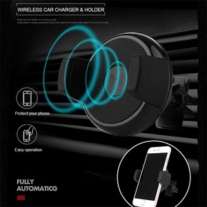 Image 5 - 696 チーワイヤレス充電器 iphone × 車のワイヤレス充電器パッドマウント高速サムスン S7 S8 注 8 iphone 8