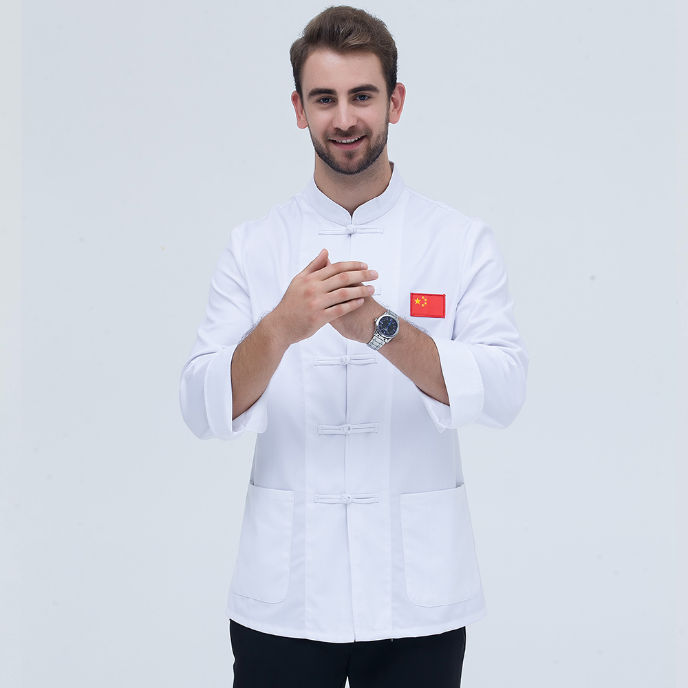 Classical Black And White Cloor  Long Sleeve Professional Chefs Uniform Full Sleeve Unisex Hotel Restaurant Kitchen Chef Jacket