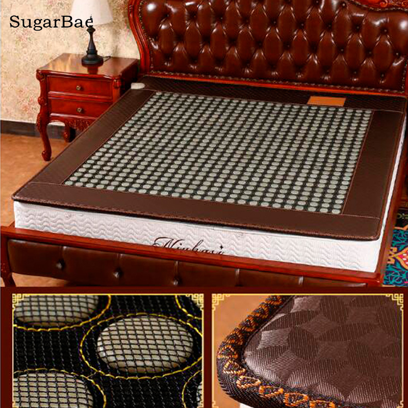 Health Jade Bed Mattress Tourmaline Electric Heating Mattress 4 Design For You Choice 2018 2016 hot sale jade bed mattress single double heating thermostat jade health mattress pad physiotherapy 3 size for you choice