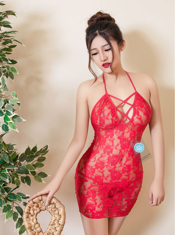 2016 Sexy Lingerie Hot for Women Red Lace Babydoll Erotic Dress with G String Underwear font