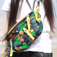 Nylon Bag With Leather Oxford Multi Pocket Leopard Crossbody Bag Chest Waist With South Korea