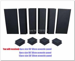 Fast shipping acoustic foam acoustic panel London 16 Room Kit Scatter Blocks Acoustic Treatment Pro Audio LA 24pcs Black Color