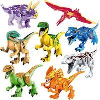 8 יחידות סט מודל דינוזאורים היורה צבעוני פלסטיק חמוד בעלי חיים צעצועי מתנות ילדים דינוזאור קטן מיני צבעים