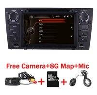 Емкостный 7 Сенсорный экран автомобильный gps навигации для bmw e90 E91 E92 gps 3g Bluetooth Радио USB SD руль Бесплатная карта Камера