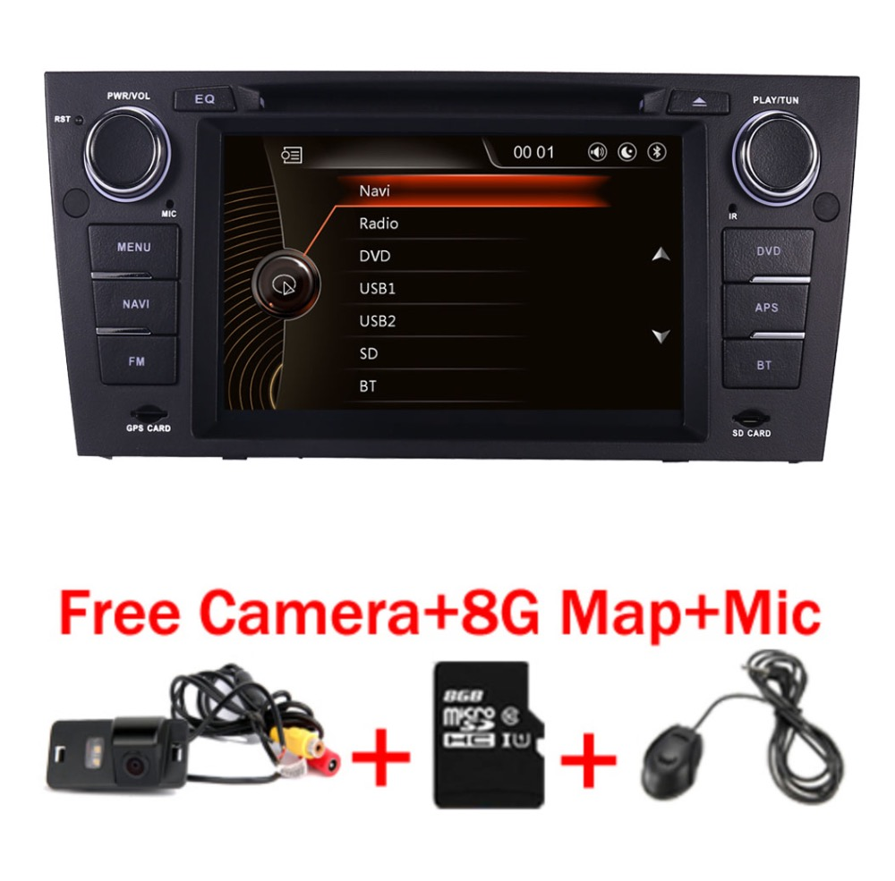 Capacitive 7Touch Screen car gps navigation for bmw e90 E91 E92 GPS 3G Bluetooth Radio USB SD Steering wheel Free map Camera mora ps 213 mw2