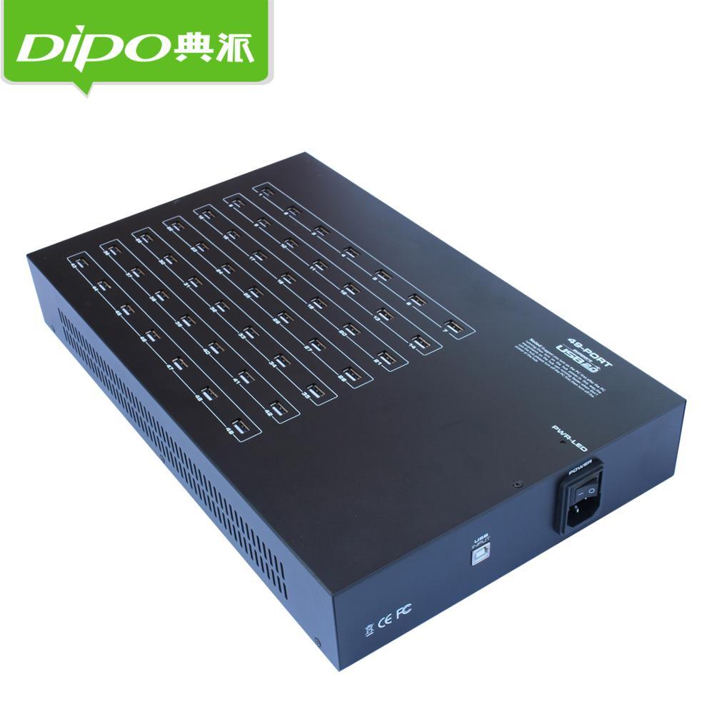 DIPO 49 porta hub usb Mobile nube punto di sistema di controllo di gruppo hub usb 49 porte per bitcoin 5 v 40a adattatore di alimentazione all'interno