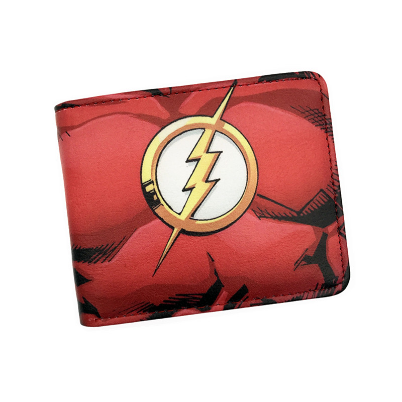Wallet Comics Superman Flash Arrow And Woder Woman Short Wallets With Card Holder Photo Holder Purse Cartoon Wallet