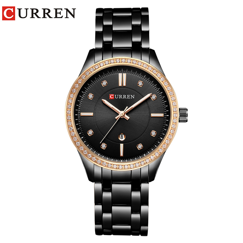 CURREN Brand Fashion Luxury Rhinestone Watch Ladies Quartz Watch Casual Women Wristwatch Female Clock Relogio Feminino Gift