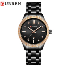 CURREN Brand Fashion Luxe Rhinestone Horloge Dames Quartz Horloge Casual Vrouwen Horloge Vrouwelijke Klok Relogio Feminino Gift
