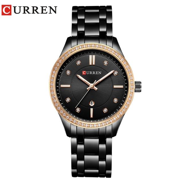 CURREN Brand Fashion Luxury Rhinestone Watch Ladies Quartz Watch Casual Women Wristwatch Female Clock Relogio Feminino Gift