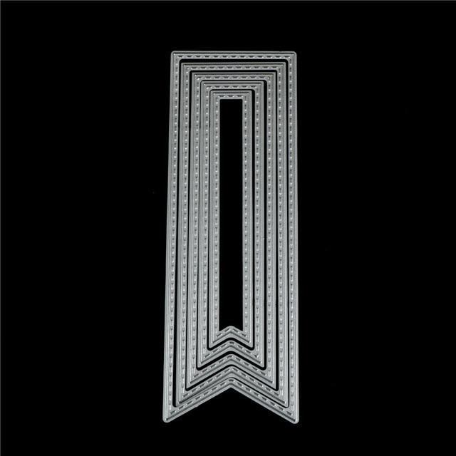 5pcs/set Banner Tag Frame Metal Steel Cutting Dies Stencils for diy scrapbooking Paper/photo Card Embossing Die Template