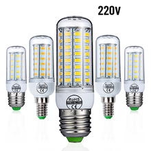 E27 E14 LED Bulb 220V LED Lamp SMD5730 Corn Bulb 24 36 48 56 69 72 LEDs Light Chandelier For Home Living Room Indoor Decoration e27 led bulb e14 led lamp ac 220v 240v corn candle lamp 24 36 48 56 69 72 leds chandlier lighting for home decoration led lights