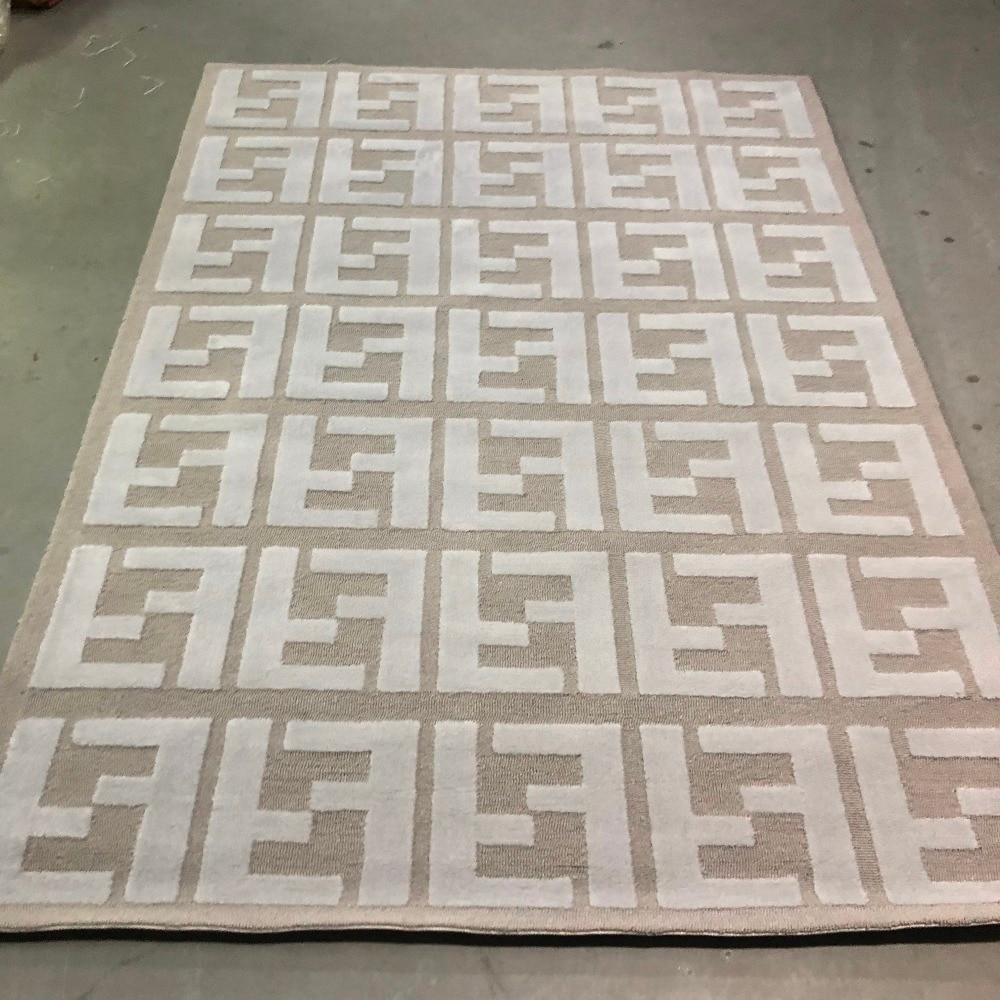 Hohe Qualität Mode Doppel FF Logo Silber Grau Arcylic Teppich Teppich, 3D Hohe und Kurze Haare Prominente FF Wirkung Teppich-in Teppich aus Heim und Garten bei  Gruppe 1