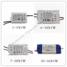1pcs 1-5X1W 6-10X1W  7-20X1W 20-36X1W LED Driver Power Supply Transformer Light Power Supply F 1W LED Chip 1pcs lot atc2603a tablet power management chip