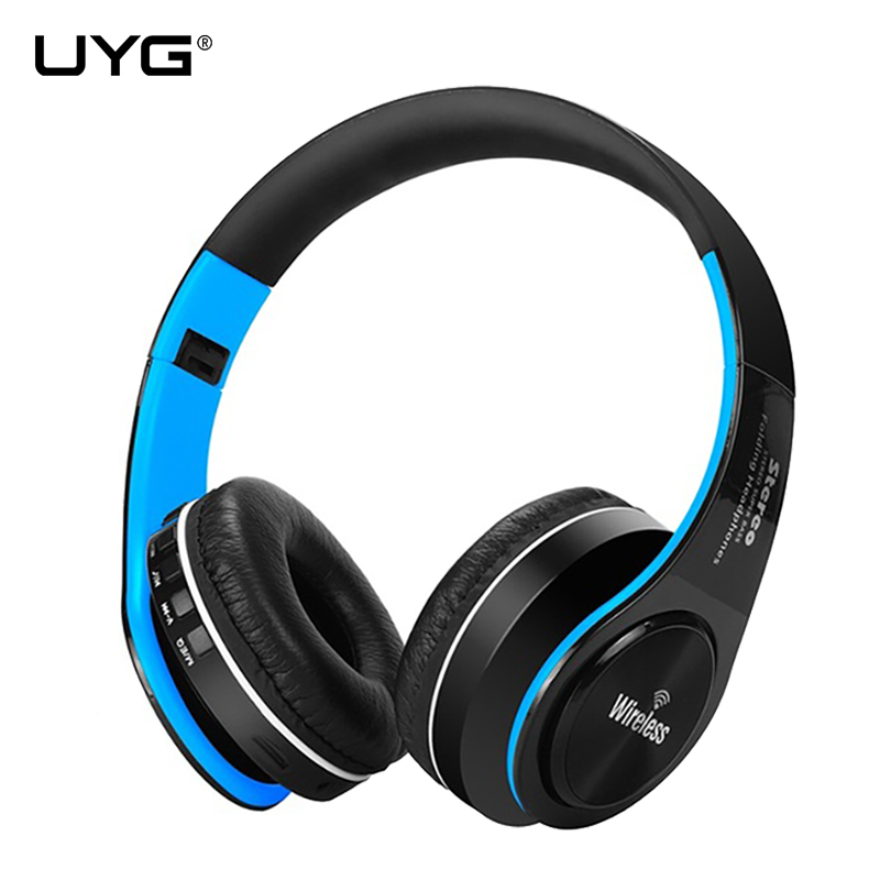 UYG wireless bluetooth headset Stereo headphones with Microphone support  aux TF Card FM for iphone xiaomi phone computer pc
