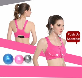 Athletic Confort Zipper Sport Bra