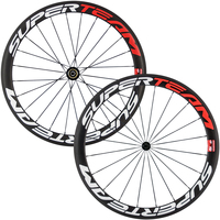 2017 Hot 3K Full Carbon Wheelset 38mm 50mm 60mm Carbon Clincher Wheels With 700C Road Bicycle