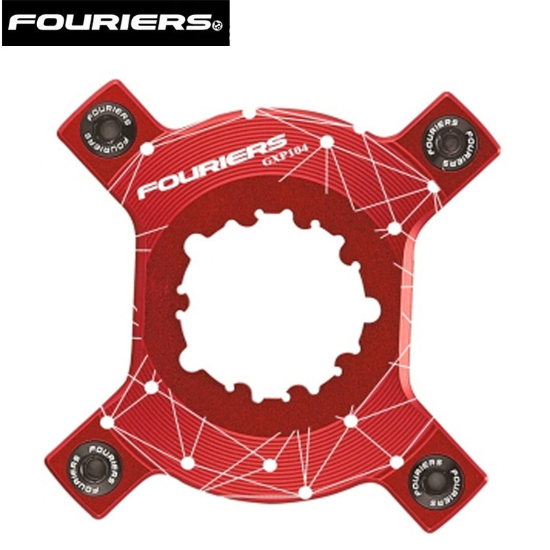 FOURIERS One piece full CNC machined GXP chainring adapter Compatible with XX1/ X0/ X9 and GXP and BCD 104MM cranks.FOURIERS One piece full CNC machined GXP chainring adapter Compatible with XX1/ X0/ X9 and GXP and BCD 104MM cranks.