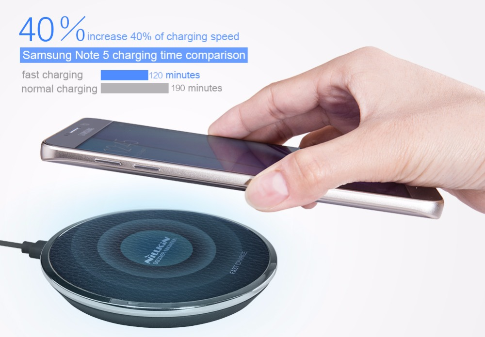 Fast Charge Wireless Charger Nillkin QI Fast Wireless Charging Pad for Galaxy S7 S7 Edge Note
