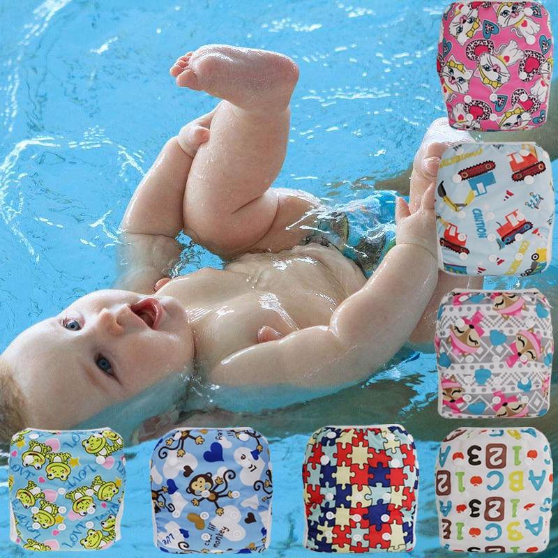 1 Stück Baby Stoffwindel Bademode Cover Ausbildung Wiederverwendbare Waschbar Pool Cover Kinder Kid Boy & Girl Töpfchen Schwimmen Kleidung Windel