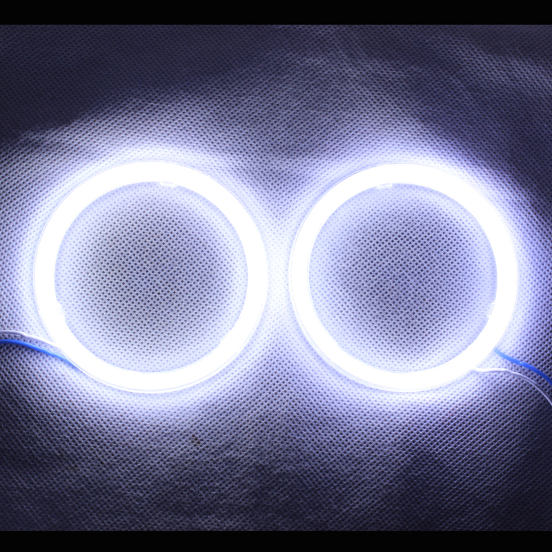 Angel Eyes COB Light LED DRL With Cover For Car Headlights ...