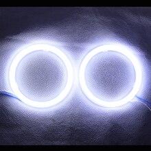 Ángel ojos mazorca ángel LED DRL con tapa para el coche faros moto llevó la luz – 2 unids ( Color blanco )