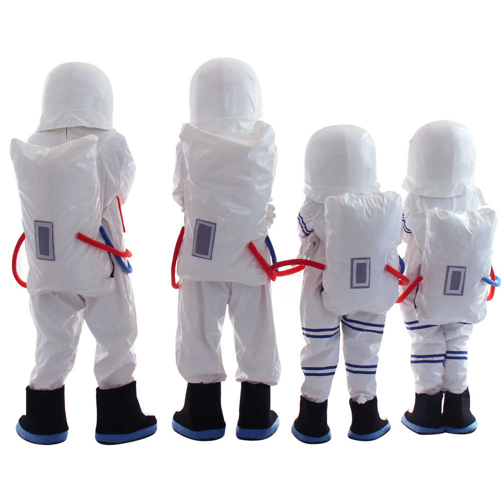 Adult and Kids size Spaceman Mascot Costume Astronaut mascot costume with Backpack Fancy dress outfit