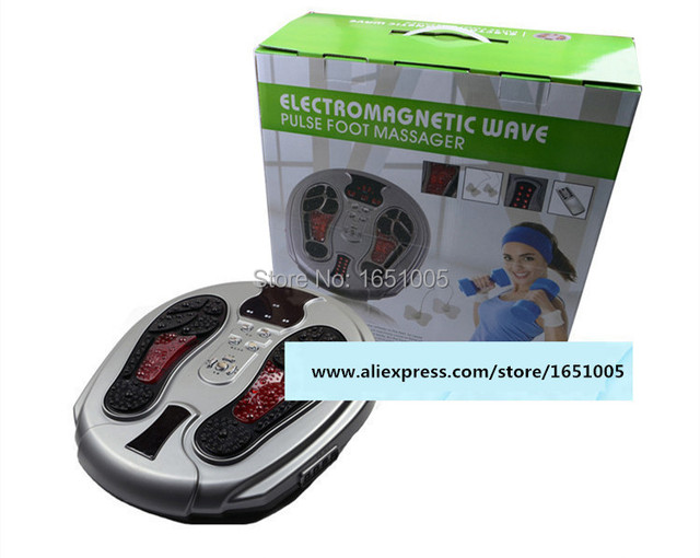 Electromagnetic Wave Pulse Foot Massager Healthcare Beauty Feet Massaging Machine Instrument Infrared Remote Control 10