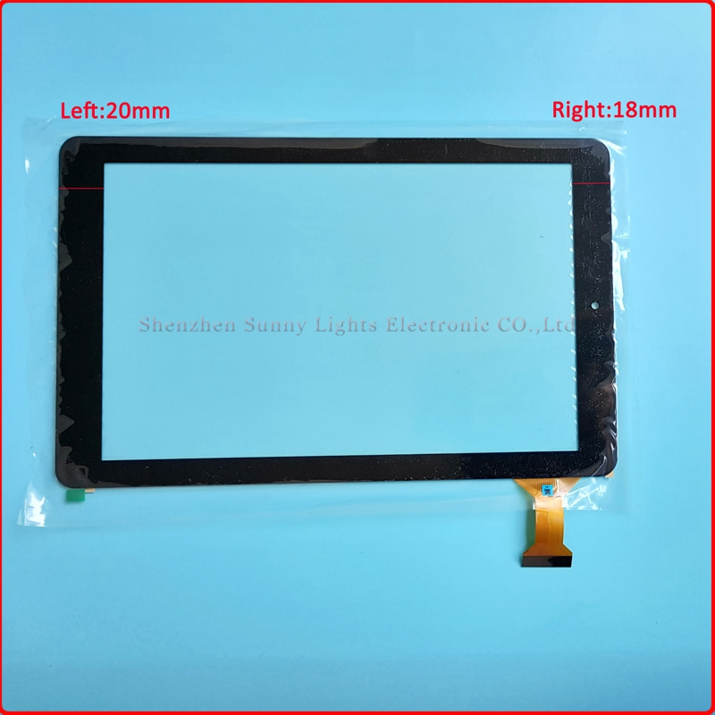 10pcs/lot 10.1'' inch new for tablet pc Touch Screen compacitive glass lens Digitizer panel Rj899 Ver.00 45pin rx16 tx26 ju sr dh 1007a1 fpc033 v3 0 dh 1007a1 fpc033 10 1inch touch screen panel for tablet pc noting size and color