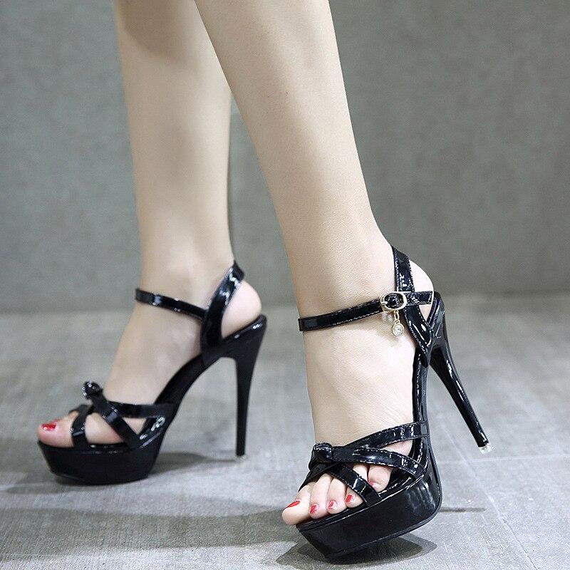 Fino Mujeres 2018 Verano Tacón Sandalias Zapatos YZWcf 34322b8ded06