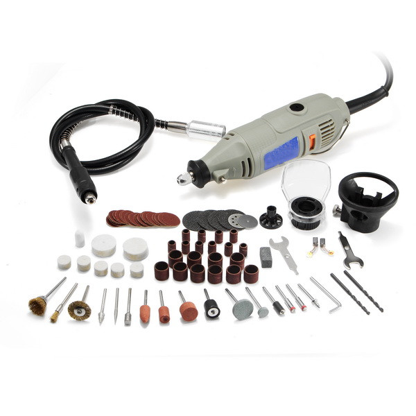 220V 150W Variable Speed Electric Grinder with 91Pcs Accessories Mini Rotary Tool Drill 220v mini electric drilling machine variable speed micro drill press grinder pearl drilling diy jewelry drill machines