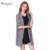 Tangnest mujeres señoras de la oficina ol delgado abrigo trench 2017 primavera suelta color sólido más tamaño europeo outwears wwf847