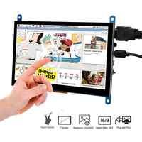 Pantalla táctil LCD de 7 pulgadas HDMI TFT, Monitor HD de 1024x600 para Raspberry Pi 3, modelo B + Pi 4, dispositivo de juegos DVR para TV Box de ordenador