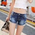 2016 летний новый Корейских женщин джинсы оптом темные личности тонкий отверстие джинсовые шорты женщина