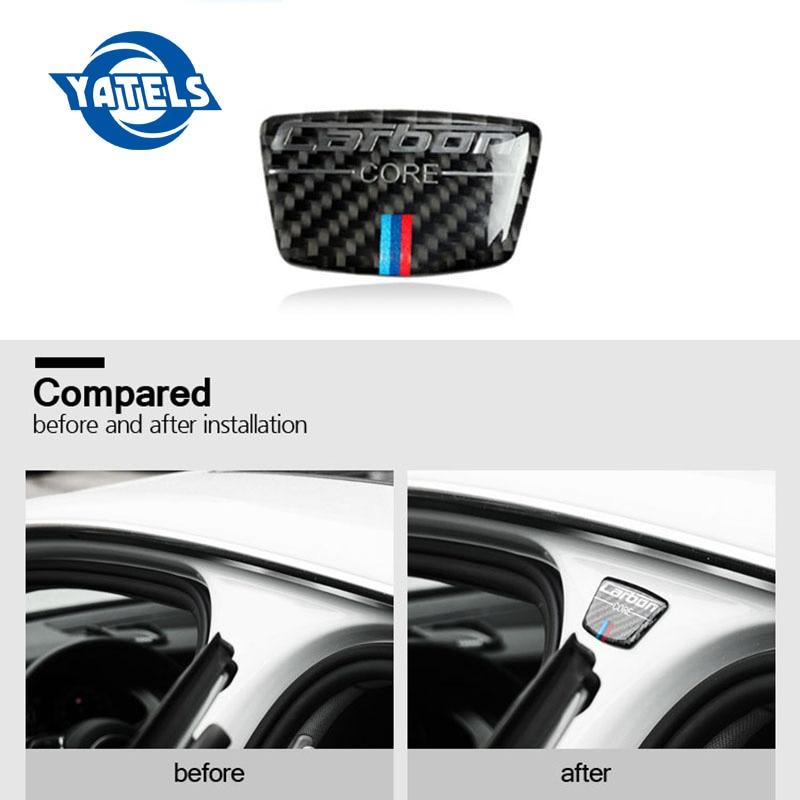 Carbon Fiber Emblem Auto Aufkleber B Spalte Aufkleber Für Bmw E46 E39 E60 E90 F30 F34 F10 1 2 3 5 7 Serie X1 X3 X5 X6 Auto Styling
