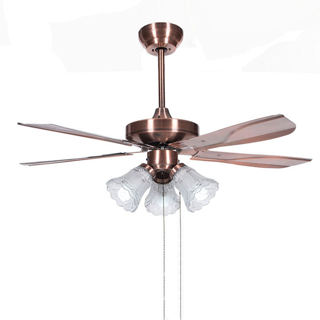 Ceiling Fan Light Living Room Antique Dining Fans 42inch European