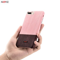 XOOMZ For IPhone 7 Plus Case Luxury Color Ultra Thin Slim Hard Plastic Leather Armor Shockproof