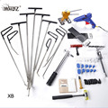 WHDZ Auto Body Dent Removal Pdr Rod Tool Kit -PDR Slide Hammer Gule Gun Dent Hammer Tap Down Handle Lifter Car Dent Repair Tools