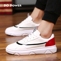Do Dower Men Patent Leather Waterproof Men Skateboarding Shoes White Hot Sale
