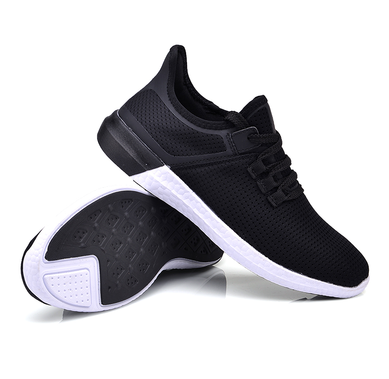 UNN Unisex Running Shoes Men New Style Breathable Mesh Sneakers Men Light Sport Outdoor Women Shoes Black Size EU 35-44 36